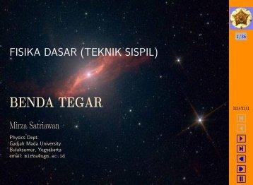 BENDA TEGAR - Mirza Satriawan