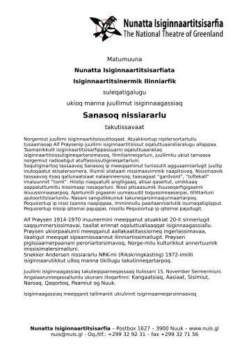 Sanasoq nissiararlu