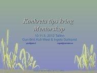 Osaava verme –mentorkurs Konkreta tips