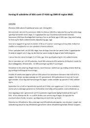 Forslag til udvidelse af SDU samt CT-KAG og CMR til ... - Midtlab