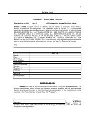 Surfside Tower AGREEMENT OF PURCHASE AND SALE Entered ...