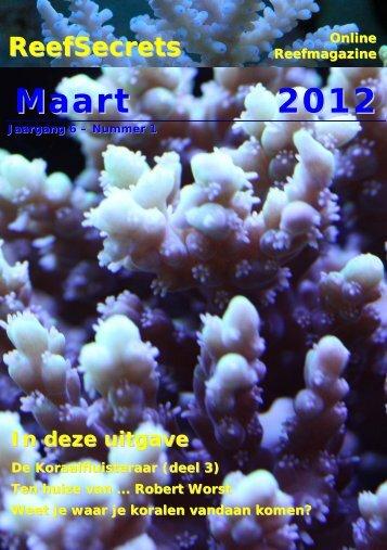 Maart 2012 - Reefsecrets