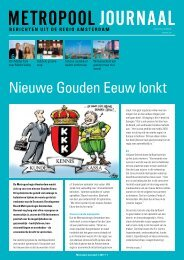 Nieuwe Gouden Eeuw lonkt - Metropoolregio Amsterdam