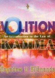 Volition: An Intro of the Law of Kamma - Vipassana Meditation ...