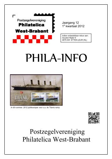 Ledenblad Phila-Info, 1e kwartaal 2012 - Philatelica West-Brabant