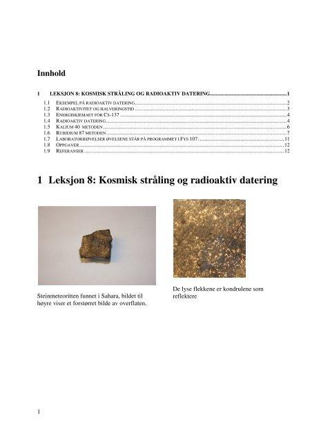 Beregning av radioaktiv datering