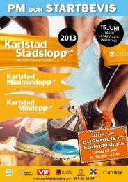 PM Karlstad Stadslopp 2013