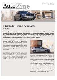 Autozine - Mercedes-Benz A-Klasse - Autozine.eu