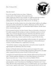 Nyhetsbrev februari 2012 - Vildåsnan