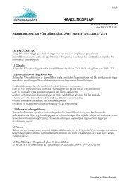 Handlingsplan för jämställdhet 2013 - Högskolan Väst