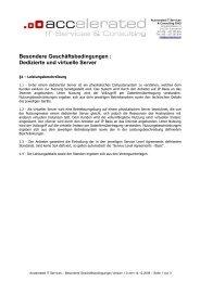 Dedizierte und virtuelle Server - Accelerated.de