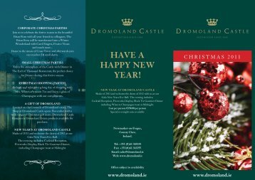 HAVE A HAPPY NEW YEAR! - Dromoland Castle Hotel