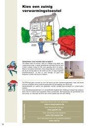 Kies een zuinig verwarmingstoestel - CeDuBo