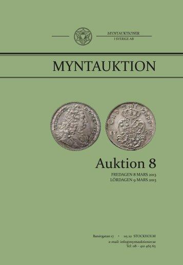 Auktion 8 MYNTAUKTION - Myntauktioner i Sverige AB