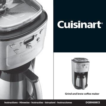 Grind and brew coffee maker - Kaffegrossisten