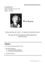 Die spezielle und die allgemeine Relativitätstheorie Albert ... - feliz.de