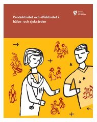 Produktivitet och effektivitet i hälso- och sjukvården - Webbutik ...