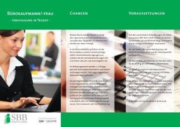 "Umschulung ""Bürokaufmann/-frau - Teilzeit"" (Stade) - SBB ..."