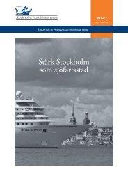 Stärk Stockholm som sjöfartsstad - Offentlig upphandling och ...