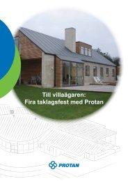 Till villaägaren: Fira taklagsfest med Protan - Nybro Industritak