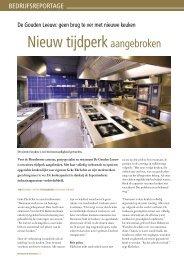 geen brug te ver met nieuwe keuken - De Gouden Leeuw