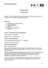 Organisationsbestyrelsen Bestyrelsesmøde 7. februar ... - HAB-Bolig