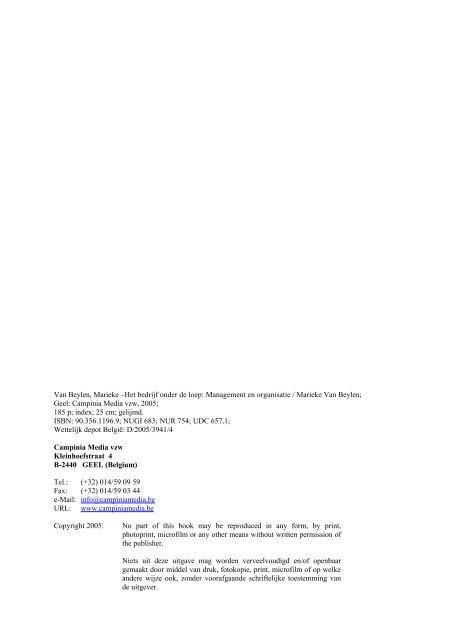 management en organisatie - Campinia Media