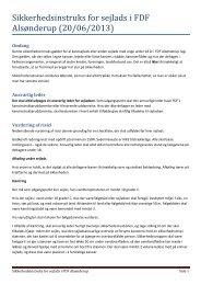 Sikkerhedsinstruks for sejlads i FDF Alsønderup (20/06/2013)