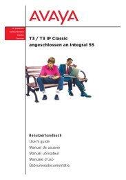 T3 / T3 IP Classic angeschlossen an Integral 55