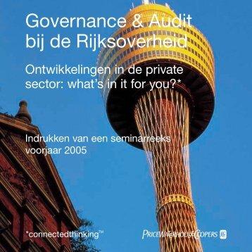 Governance & Audit bij de Rijksoverheid