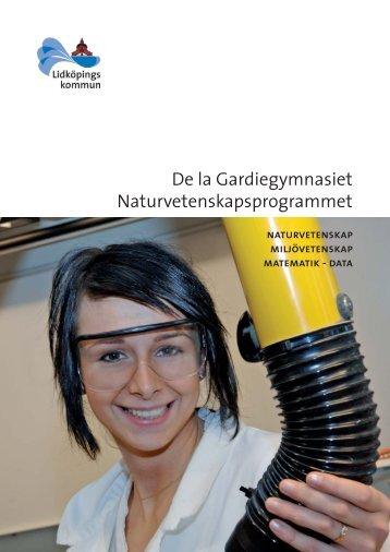 De la Gardiegymnasiet Naturvetenskapsprogrammet - Lidköping