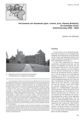 Het kasteel van Gaasbeek (gem. Lennik, prov. Vlaams ... - OAR