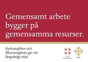 Gemensamt arbete bygger på gemensamma resurser. - Svenska ...