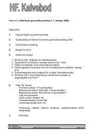 Efterårsgeneralforsamling Onsdag 7. Oktober 2009