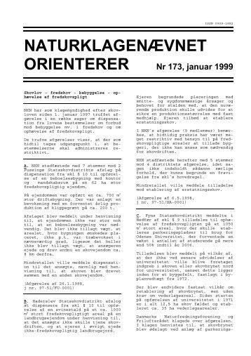 NATURKLAGENÆVNET ORIENTERER Nr 173, januar 1999