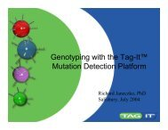 Cystic fibrosis genotyping on the Tag-It™ Platform.
