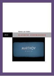 Algemene voorwaarden (pdf) - MARTHOV media