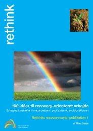 100 idéer til recovery-orienteret arbejde - Social Viden til Gavn