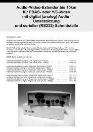Audio-/Video-Extender bis 10km für FBAS- oder Y/C-Video mit ...