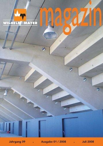 Jahrgang 09 . Ausgabe 01 / 2008 . Juli 2008