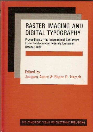 Raster Imaging and Digital Typography - Site de Jacques André
