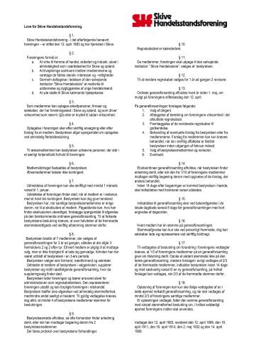 Love for skive Handelsstandsforening