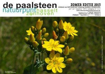 ZOMER EDITIE 2013 - Natuurpunt Hasselt-Zonhoven
