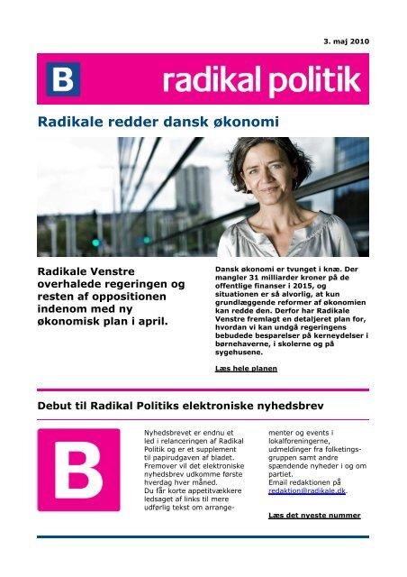Radikale redder dansk økonomi - Radikale Venstre
