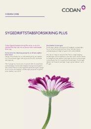 SYGEDRIFTSTABSFORSIKRING PLUS - Codan Forsikring A/S