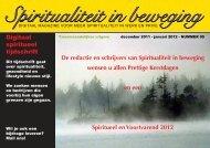 De redactie en schrijvers van Spiritualiteit in beweging ... - Dactyologie