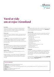 Værd at vide om at rejse i Grønland - Albatros Travel