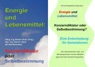 Energie und Lebensmittel: Konzerndiktatur oder ... - Norbert Hofer