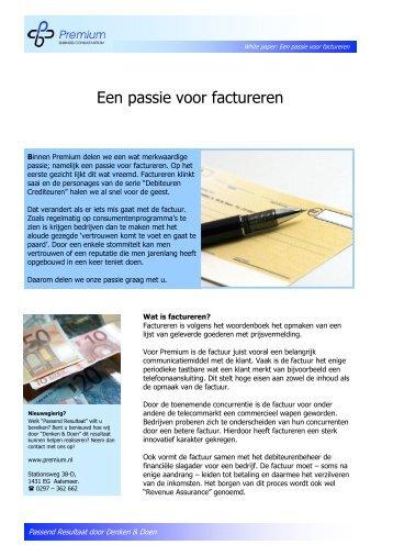 White paper – een passie voor factureren