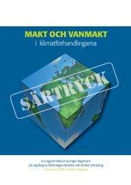 Särtryck Makt och vanmakt i klimatförhandlingarna - Arena Norden